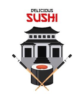 Delizioso disegno di sushi