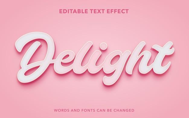 Delizia lo stile dell'effetto di testo modificabile