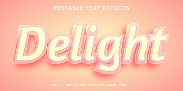 Delizia effetto di testo modificabile