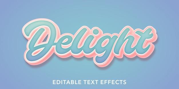 Delizia gli effetti di testo modificabili