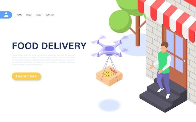 Consegnare i pasti pronti a casa tua utilizzando un drone.