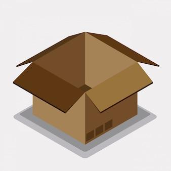 Design della scatola di consegna.