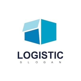 Scatola di consegna per logo logistico design vector