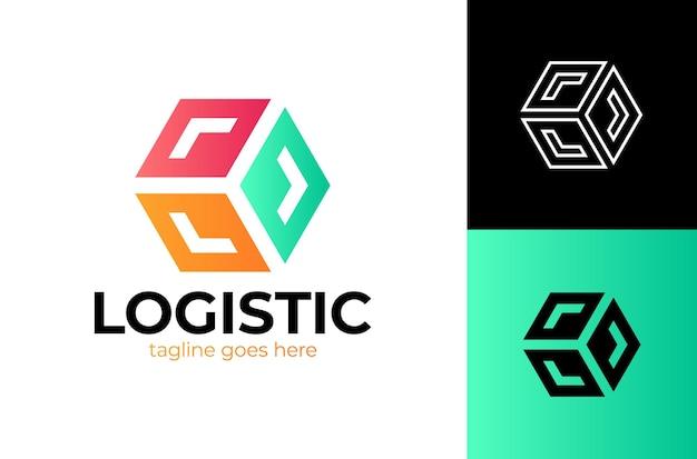 Scatola di consegna con freccia logo fast box logo