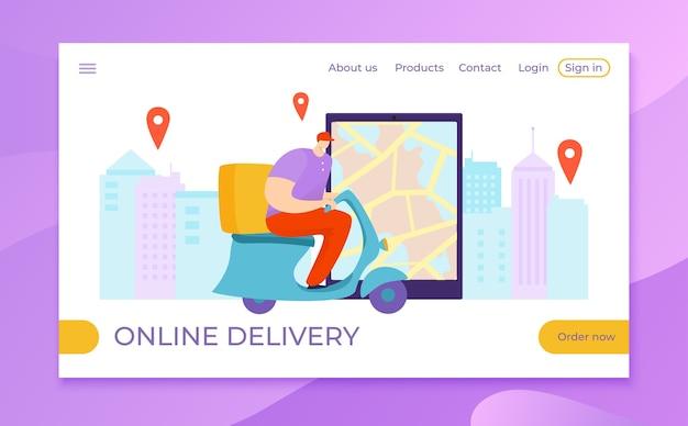 Illustrazione in linea di affari di consegna