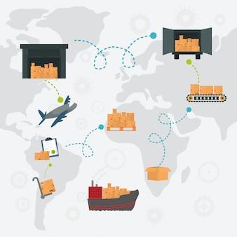 Illustrazione di design di consegna
