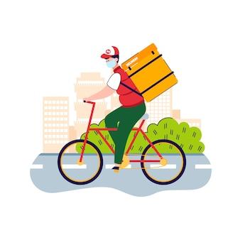 Illustrazione del dipendente di consegna