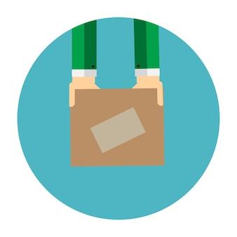 Concetto piatto di consegna per applicazioni mobili. eps10