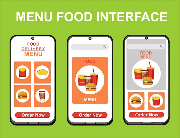 Kit di food design per la consegna per app.