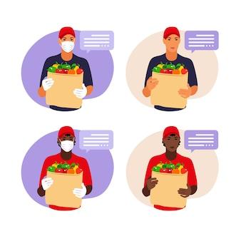 Consegna della merce durante la prevenzione del coronovirus