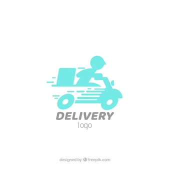 Modello di logo di consegna