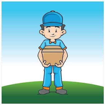 Illustrazione della mascotte di consegna