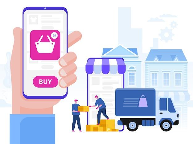 Illustrazione di concetto di servizio di consegna