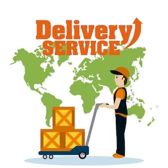 Concetto di servizio di consegna