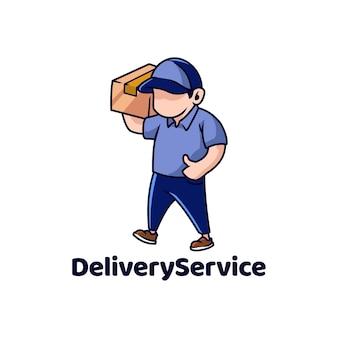 Servizio di consegna corriere spedizione pacchetto pacco scatola veloce uomo vendita online consegnare