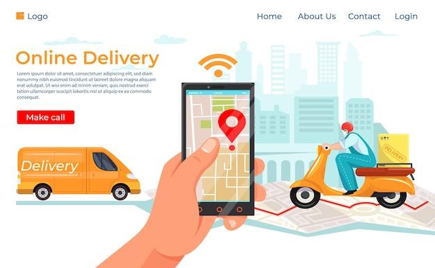Servizio di consegna su smartphone