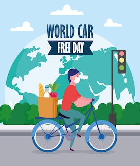 Servizio di consegna nel mondo senza auto