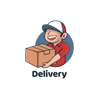 Servizi di consegna ordina pacco online scatola di spedizione
