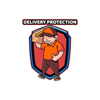 Scudo della scatola di protezione della spedizione di consegna consegna ragazzo