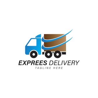 Vettore dell'icona del camion di consegna isolato sull'idea dell'etichetta del servizio di consegna veloce del fondo bianco