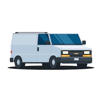 Consegna furgone bianco