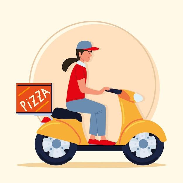Addetto alle consegne in moto