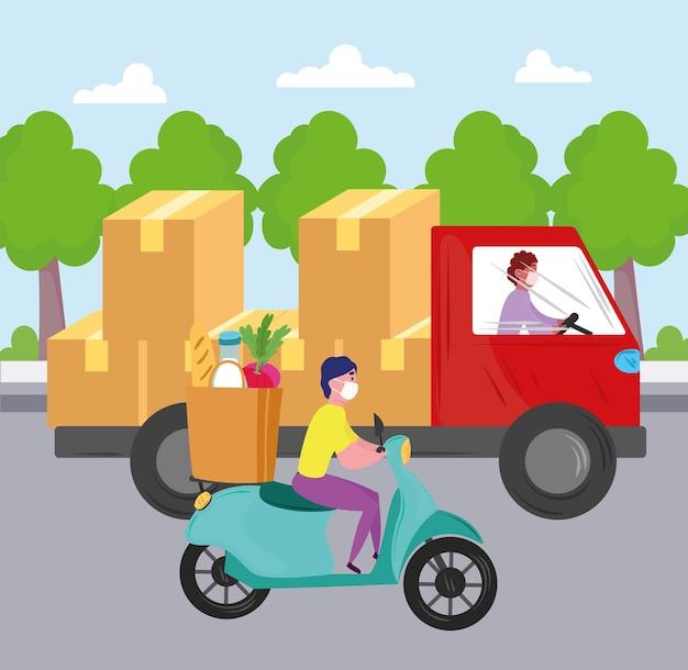 Servizio di consegna lavoratori