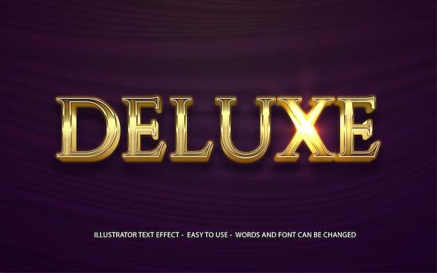 Modello di effetto di stile modificabile del testo 3d deluxe