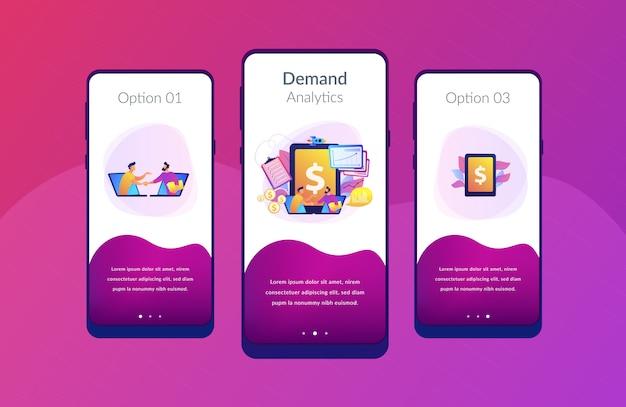 Modello di interfaccia dell'app di pianificazione della domanda