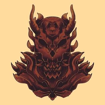 Alieno demone con tema scuro