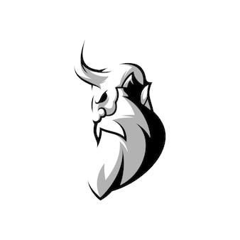 Demon design in bianco e nero