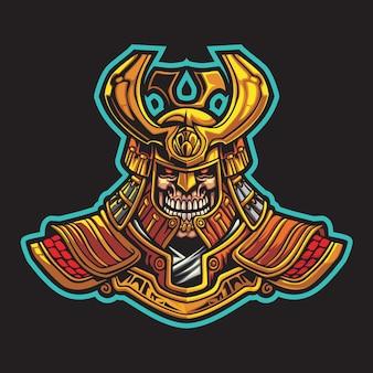 Demon knight esport logo illustrazione