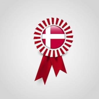 Distintivo dell'insegna del nastro della bandiera della danimarca