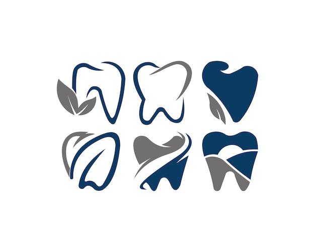 Dent logo design vettoriale