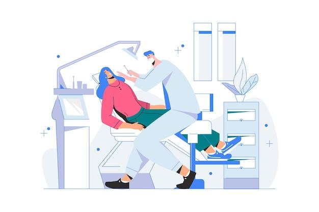 Illustrazione del concetto di cura dentale