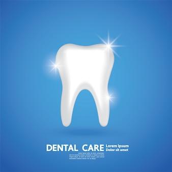 Concetto creativo di cure odontoiatriche.