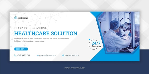 Servizi di cure dentistiche e dentisti modello di banner con foto di copertina di facebook