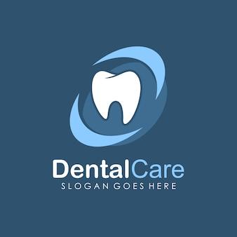 Il logo di cura dentale e odontoiatria degna modello