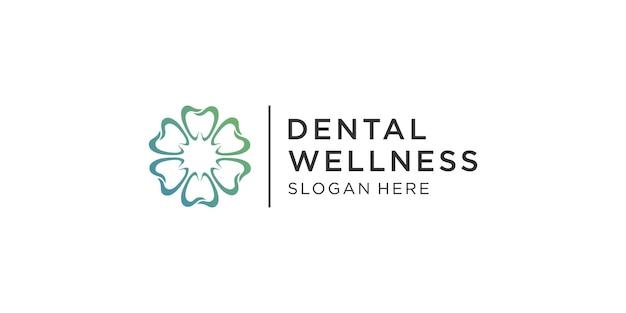 Modello di logo per cure odontoiatriche