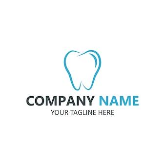 Logo di cure odontoiatriche su sfondo bianco