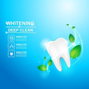 Modello di pubblicità o promozione per cure odontoiatriche e denti