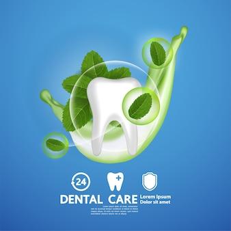 Cure odontoiatriche con foglia di menta piperita