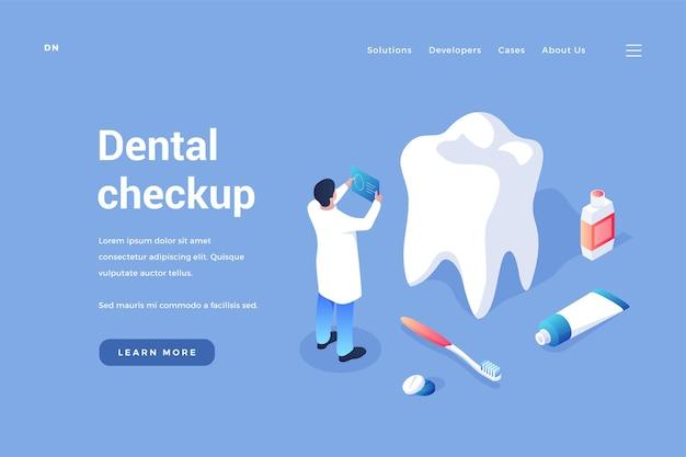 Controllo e prevenzione dentale il dentista esamina i denti del paziente