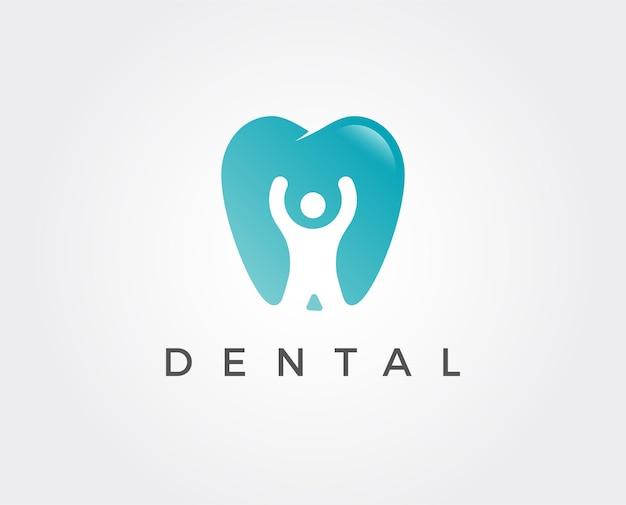 Modello di logo della clinica odontoiatrica