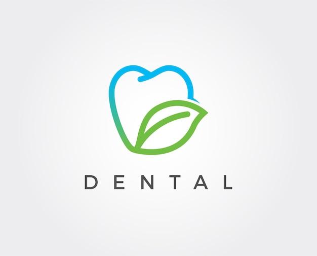 Modello del logo della clinica odontoiatrica
