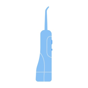Irrigatore dentale flosser orale illustrazione vettoriale in stile piatto