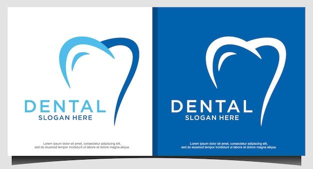 Logo dentale design logo dentista creativo