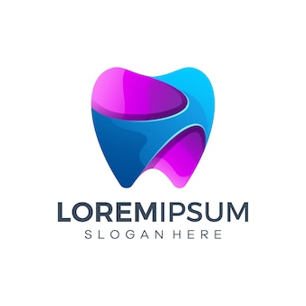 Modello di progettazione del logo dentale
