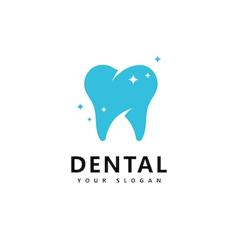 Dental logo icon design vector