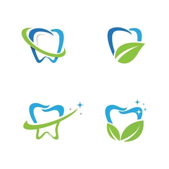 Logo dentale modello icona illustrazione vettoriale design